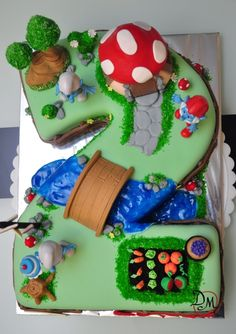 Smurf Village cake-I want this for my bday lol