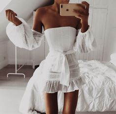 Our Kenny Eyelet Dress on Mode Outfits, Trendy Outfits, Fashion Outfits, Womens Fashion, Cute Dresses, Short Dresses, Summer Dresses, Spring Summer Fashion, Spring Outfits