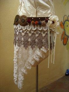Custom Made Tribal Fusion Dance Belt by by lotusbubbamandala, $150.00