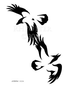 Huginn and Muninn by RHPotter on DeviantArt Norse Tattoo, Celtic Tattoos, Viking Tattoos, Celtic Raven Tattoo, Silhouette Tattoos, Future Tattoos, Love Tattoos, Crow Tattoos, Tatoos