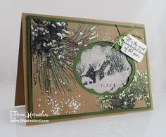 Images and embossing enamels from Stampendous by Pam Hornschu.