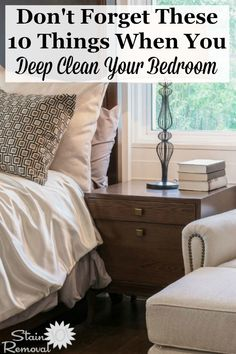 Trendy Deep Cleaning Bedroom Checklist Home Ideas Deep Cleaning Tips, House Cleaning Tips, Spring Cleaning, Cleaning Hacks, Cleaning Checklist, Cleaning Service, Hm Home, Clean Bedroom, Bedroom Cleaning