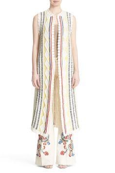 'Rudy' Stripe Knit Maxi Vest
