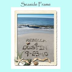 Personalized Sand Writing  8x10 Sandwriting with by malibelle, $32.00