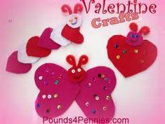 Materials for Valentine crafts for kids: