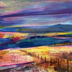 Part of a whole series of mixed media photos/paintings from a Yorkshire artist named Kate Boyce.  Gorgeous, luminous color with romantically-named, charming locations in Northern England.  Different sizes, quantity discounts.