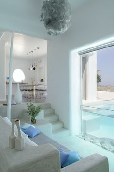 house in Paros cyclades greece . design by Logodotis – Art to fit Summer house in Paros Cyclades Greece Interior Architecture, Interior And Exterior, Exterior Design, Greece House, Greece Design, Victorian Cottage, Deco Design, Pool Designs, Home Design