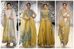 Yellow Blue -Varun Bahl India Couture Week