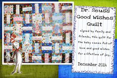 Dr. Seuss Good Wishes Quilt