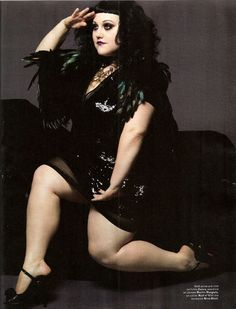 Beth Ditto.  Feathers.