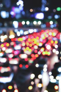 City lights - bokeh