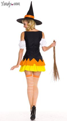 Chic Candy Corn Witch