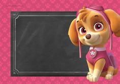 Convite para Festa Patrulha Canina para Meninas