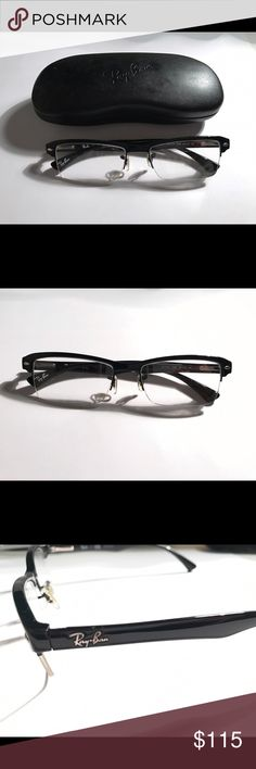 RayBan Rx Prescription glasses rb7014 black RayBan 7014 rx glasses // bought in 2015 // never used // includes original case Ray-Ban Accessories Glasses
