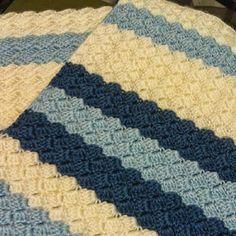 Soft Bobbles Baby Blanket Free Pattern
