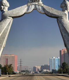 This monument in Pyongyang is dedicated to the unification of the north and south of Korea.