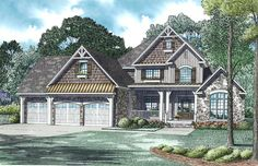 Country House Plan with 2860 Square Feet and 4 Bedrooms from Dream Home Source | House Plan Code DHSW076283