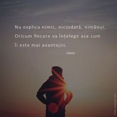Postări pe Instagram de la De Vorba Cu Tine • Dec 29, 2018 at 7:18 UTC Osho, Mood Quotes, Meditation, Abs, Memories, Thoughts, Feelings, Words, Instagram Posts