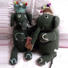 Häkeltier Elephant mit Krone von Én Gry & Sif