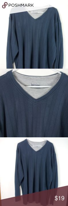 Men/'s Basic Editions V-Neck or Crew Sweater