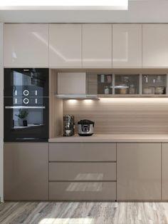 Modern Kitchen Interiors, Luxury Kitchen Design, Kitchen Room Design, Contemporary Kitchen Design, Kitchen Layout, Home Decor Kitchen, Interior Design Kitchen, Modern Kitchen Cabinets, Kitchen Furniture