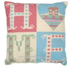 Home Sweet Home Tapestry Cushion Front