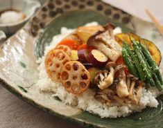 Fried Vegetable Chirashi Sushi 野菜がいっぱいのアツアツちらし寿司
