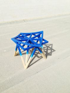 'Unfolding Unity' stool designed by Niftee & displayed at Design Days Dubai Fair - March 18-21