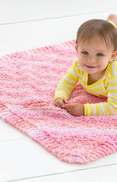 Cuddle Bug Baby Blanket Knitting Pattern  It won't take long to knit this cozy blanket with this super bulky, super cuddly yarn. / A variation of Grandmother's favorite, mindless knitting at its best ^_^