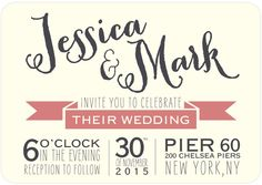 Merriment to Follow - Signature Custom Wedding Invitations in Mauve or Mist | East Six Design