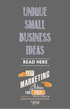 Ideas for Marketing Your Small Business – A unique small business idea today on my blog http://attention-getting.com #small business #marketing #ideas Small Business Marketing Strategy