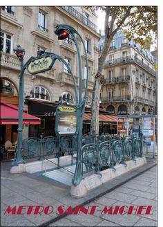Carte Metro Saint Michel pour envoyer par La Poste, sur Merci-Facteur ! Art Nouveau, Saint Michel, Les Oeuvres, Saints, Street View, Late Nights, The Letterman, Thanks, Places