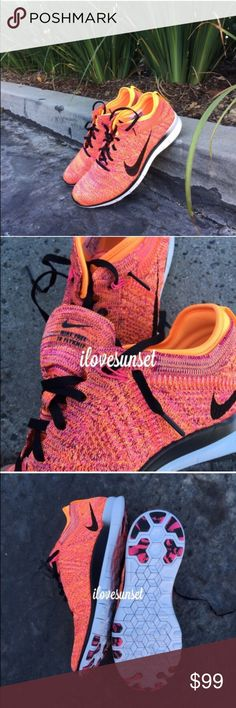 ✨✨{Nike} Free 5.0 Flyknit Women's 10. Color: black, orange, white...Brand new, never been worn. I'll pack them in a designer box to keep them safe. ❗️Price is firm, even when bundled ❗️   ❌ No Trades/ No PayPal  ❌ No Lowballing  ✅ Bundle Discounts ✅ Ship Same or Next Day  % Authentic Nike Shoes