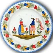 Quimper faience hb henriot quimper plates french have a for Lavabo porcelaine ou ceramique
