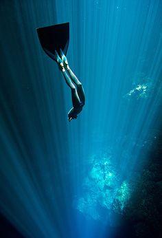 Australian freediver Christina Saenz de Santamaria