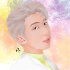 #BTS #RM #fanart #btsfanart #digital #painting Disney Characters, Fictional Characters, Digital Art, Fanart, Bts, Disney Princess, Painting, Instagram, Painting Art