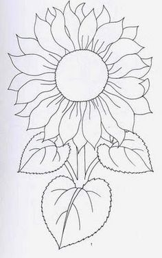 New Ideas Embroidery Sunflower Pattern Design – Handstickerei Stained Glass Patterns, Mosaic Patterns, Painting Patterns, Fabric Painting, Painting Templates, Sunflower Quilts, Sunflower Art, Sunflower Pattern, Sunflower Coloring Pages