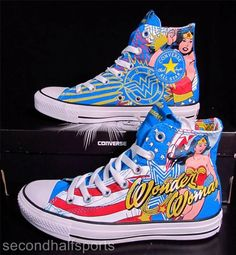 Converse Chuck Taylor All Star. Featuring The Clash. Header, Superman Wonder Woman, Converse Chuck Taylor All Star, Converse High, Princesa Diana, Super Hero Costumes, Custom Shoes, Shoes Heels Boots, Chuck Taylors