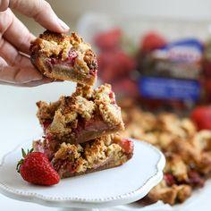Grain Free Strawberry Crumb Bars - Little Bits of...