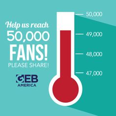 We're ALMOST there! We're less than 1,000 fans away from reaching our memorable 50,000 fan milestone.   Today, please SHARE this post to encourage others to 'LIKE' our page. Once you've SHARED, you're automatically entered for a chance to win a GEB America themed gift basket filled with goodies such as mugs, shirts, books, and more!