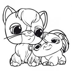 Littlest Pet Shop cute animals printable coloring sheets