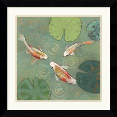 Bring the beauty of your own Koi pond into your home or office. In Japan the Koi is revered as being a symbol of strength and energy in times of adversity. Artist: Aleah Koury Title: Floating Motion I