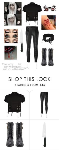"""""""Creepypasta OC- Black Abyss"""" by ticci-toby-ben-drowned ❤ liked on Polyvore featuring River Island, Zoe Karssen and J.A. Henckels"""