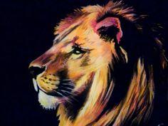 Картинки по запросу лев пастелью
