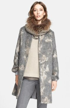 Fabiana Filippi Mohair Flannel Coat available at #Nordstrom
