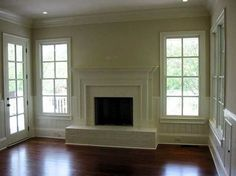 love the windows and crown molding