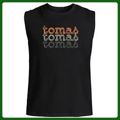 Idakoos - Tomas repeat retro - Male Names - Sleeveless T-Shirt - Retro shirts (*Amazon Partner-Link)