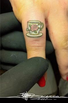 I LOVE this tiny tea cup! 30 Simple And Beautiful Tiny Tattoo Designs