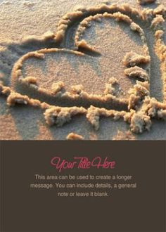 15 Valentines Day Ecards That Don't Cost a Dime: Heart in Sand by Celebrations