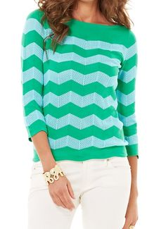 Lilly Pulitzer Ava Boatneck Striped Sweater